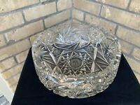 Large Heavy Lead Cut Crystal Bowl/Dish 'Star Of David'