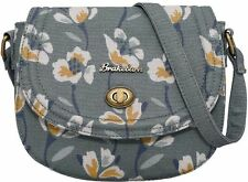 Brakeburn Large Floral Green Blue Design Small Saddle Cross Body Messenger bag