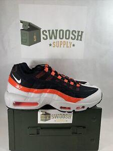Nike Air Max 95 Baltimore Away Athletic Shoes Grey Orange CD7792-001 Men's Sz 10