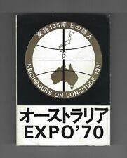 EXPO 70 Japan Australia Pavilion Leaflet Osaka 1970 Brochure