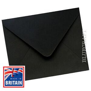 """30 pack x Black Square Premium 155 x 155mm 6"""" Invite Envelopes 100gsm"""