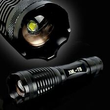 XML T6 LED Zoomable 2000 Lumen 18650 Flashlight Focus Torch Zoom Lamp Light VP