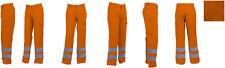 EDELWEISS Warnschutz Bundhosen leuchtorange, EU-Produktion, 60% Baumwolle, Gr 52