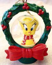 Tweety Bird Snow Globe Christmas Ornament 1997 Warner Brothers