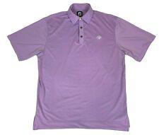FootJoy Golf Hardscrabble Mens Medium M Pink Purple Spandex Striped Polo Shirt