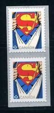 SUPERMAN SOUVENIR SHEET & COIL PAIR CANADA 2013 MNH