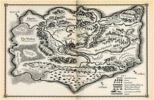 Incorniciato stampa-VINTAGE PIRATI Treasure Map (PICTURE POSTER VELA NAVE BARCA)