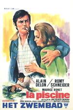 "LA PISCINE Alain Delon Romy Schneider poster 14""x22"""