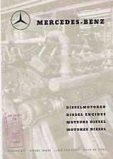 VINTAGE CATALOG #2760 -  1967 MERCEDES BENZ DIESEL ENGINES DIESELMOTOREN