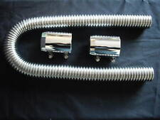 RADIATOR HOSE KITS STAINLESS  POLISHED 36 INCH UNIVERSAL FIT