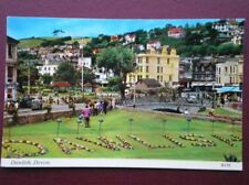 POSTCARD DEVON DAWLISH - NAME SPELT OUT IN FLOWERS 1970'S
