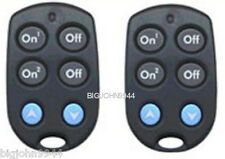 2 Pack X10 Kr19A /Rkr24 2 Unit Slim Fire Keychain Remote - Factory Fresh