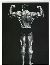 ARNOLD SCHWARZENEGGER 7x Mr Olympia Back Pose Muscle Photo B&W