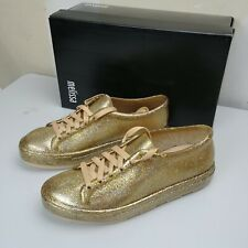Melissa Womens BE Fashion Sneaker Glass Glitter Gold US Size 6 7 8 9
