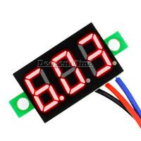 """0.36"""" DC 0-30V LED Panel Voltage Meter 3-Digital Display Voltmeter 3 Wires Red"""