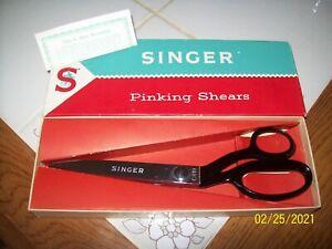 "Singer 9"" Pinking Shears C819 Brazil IN ORIGANEL BOX"