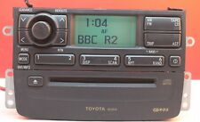 TOYOTA AVENSIS CD RADIO PLAYER DECODED SAT NAV CONTROLS 2000 2001 2002 W53804