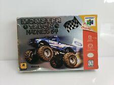 Vintage Nintendo N64 Monster Truck Madness 64 1999 CIB Rockstar HTF