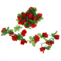 kuenstlich rose Girlande Blume Weinstock fuer Zuhause Hochzeit Garten Dekoration