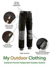 Diadora Utility Workwear Mens Cotton Work Trousers - Parkour - Black/Grey