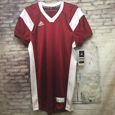 NWT Adidas Men's Crimson/White Football Jersey Sz. Large NEW 7746A