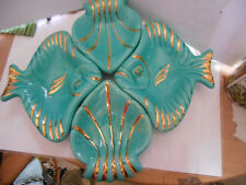 service aperitif ceramique Magdalithe 50's poisson appetizer,fish old ceramic