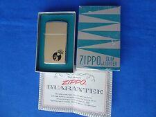 1960 Zippo Slim Lighter w/ Box - Ringing Handbell Bell Logo 1610 High Polish