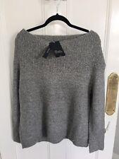 Ladies Zara Knit Off The Shoulder Jumper In Grey Size M BNWT RRP£39.99