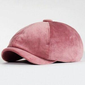 Velvet Autumn Winter Newsboy Caps Men And Women Warm Octagonal Hat