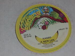"Kasso:  A New Life    UK  EX+   7""  Italo Disco"