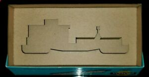 """Athearn 40' Work Caboose laser cut Box Insert exact fit! 7.5"""" Yellow or Blue box"""