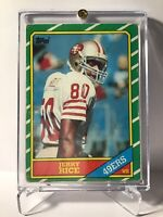 1986 Topps #161 Jerry Rice San Francisco 49ers RC Rookie