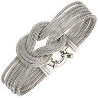 Armband Armkette Armreif Kreuzknoten Seeknoten 925 Silber matt Damen 19cm