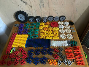 Job lot Mixed  Bundle of Knex K'NEX ~ Wheels..Rods..Scoop..Connectors+++