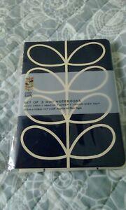 Orla Kiely set of 3 mini notebooks.new