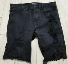 PacSun Jean Shorts Size 33 - Distressed/Skinny/Black