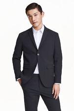 H&M blue seersucker jacket  size 48 0342995001