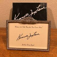 KENNETH JAY LANE HEAVY RHINESTONE PICTURE FRAME - SPARKLING & GORGEOUS!