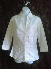 White blouse cotton blend stretch size Medium long sleeve, Larry Levine
