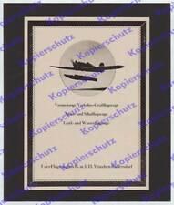 ORIG. publicitarias Udet industria aeronáutica munich Ramersdorf aviación u 13 seeflieger 1925
