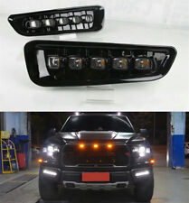 2pcs White LED DRL Daytime Running Light Fog lamps FOR Ford F150 2017-2018