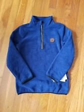 Timberland Boys Size 6 1/2 Zip Pullover Long Sleeve Blue New