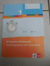 Grundschule, Wochenplan Mathematik 1, Trainingskurs mit Software, Klett