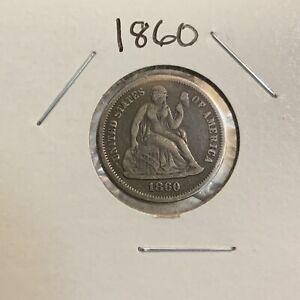 1860 Liberty Seated Dime