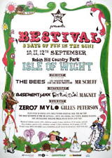 BESTIVAL FESTIVAL TOURPOSTER KONZERTPLAKAT 2004 ISLE OF WIGHT