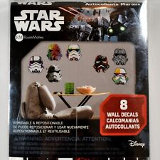 Room Mates Disney Star Wars 8 Piece Assorted Storm Trooper Removable Decals