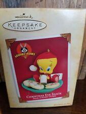2004 Hallmark Keepsake Tweety Christmas Eve Snack Looney Tunes Ornament