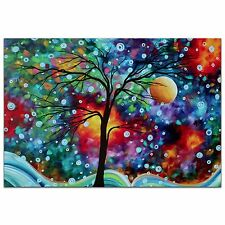 Abstract Tree Wall Art Colorful Landscape Metal Giclée Painting Megan Duncanson