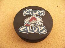 Colorado Avalanche Kids Club hockey puck NHL Players Bench The Hockey Source