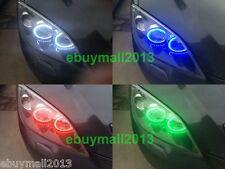 4 X RGB Halo Rings For MAZDA 3 LED SMD Angel Eyes DRL Flash Strobe Demon Corona